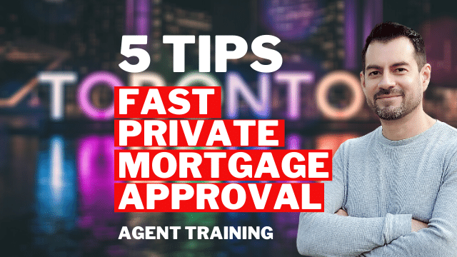 fast private mortgage approval - agent training